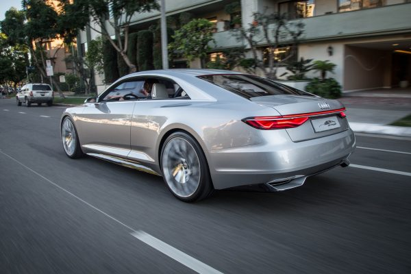 Audi-Prologue-Concept-rear-three-quarter-in-motion